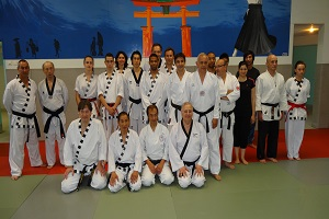 Photo de Maîtres de différents styles au stage de KHIDO à Aulnay